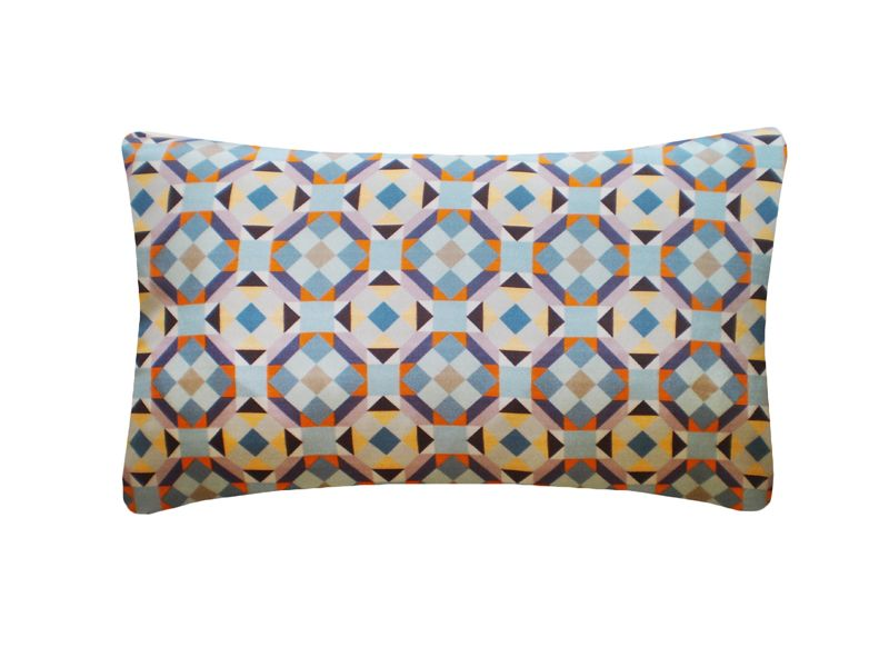 Rubik Printed Rectangular Cushion  by Nitin Goyal London