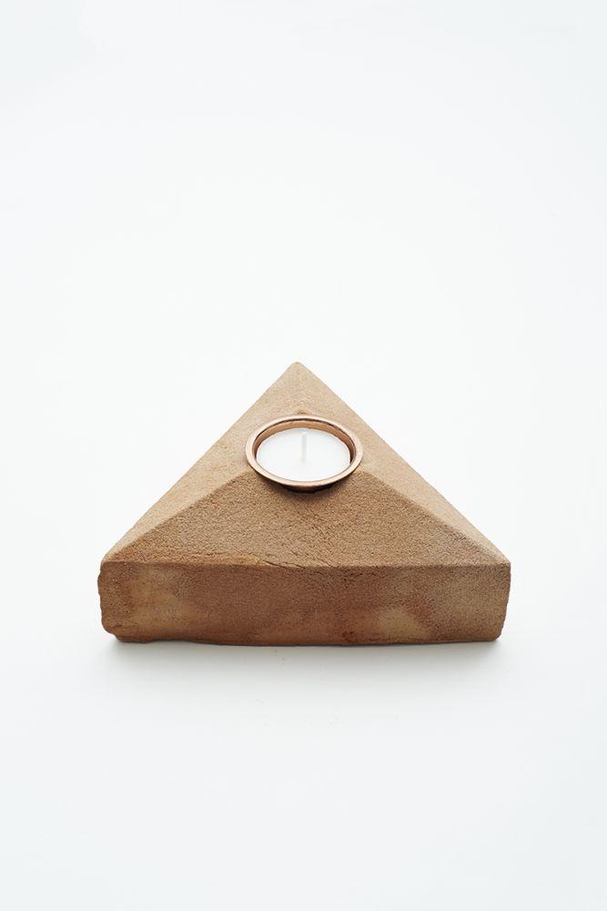Sand Cast Brick Tea Light Holder by Lane