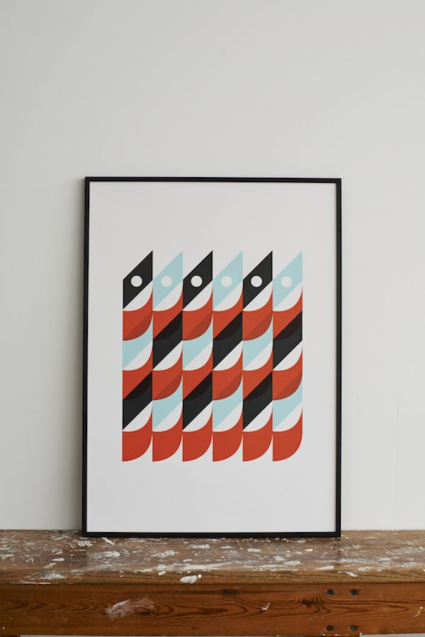 Sardines Screen Print by Lane