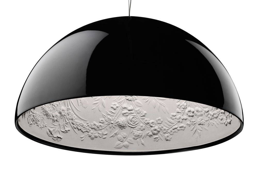 Skygarden Pendant Light S1, Small, Glossy Black, Halogen By Flos Clippings