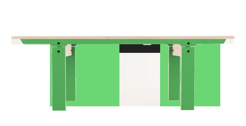 Slim Bench 04 Small - Palm Leaf Green