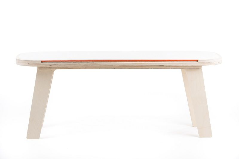 rfrom Slim Touch Bench - White - Orange - Grey