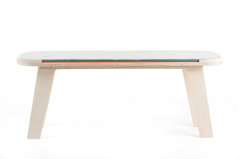 rfrom Slim Touch Bench - White - Blue - Orange