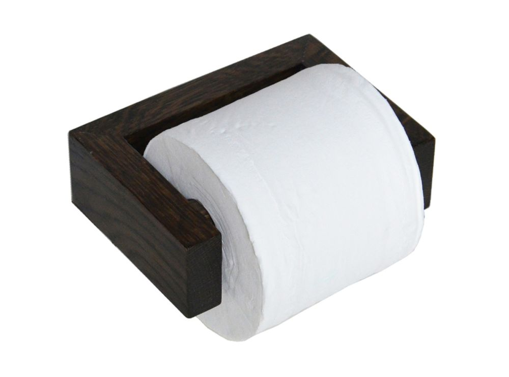 slimline toilet roll holder wall dark oak dark oak