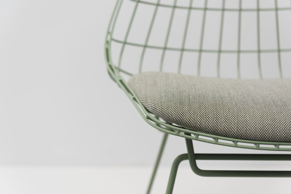SM05 Dining Chair with Cushion, Pale Green Frame by Pastoe