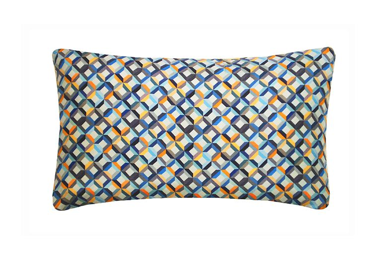 Small Chevron Printed Rectangular Cushion by Nitin Goyal London