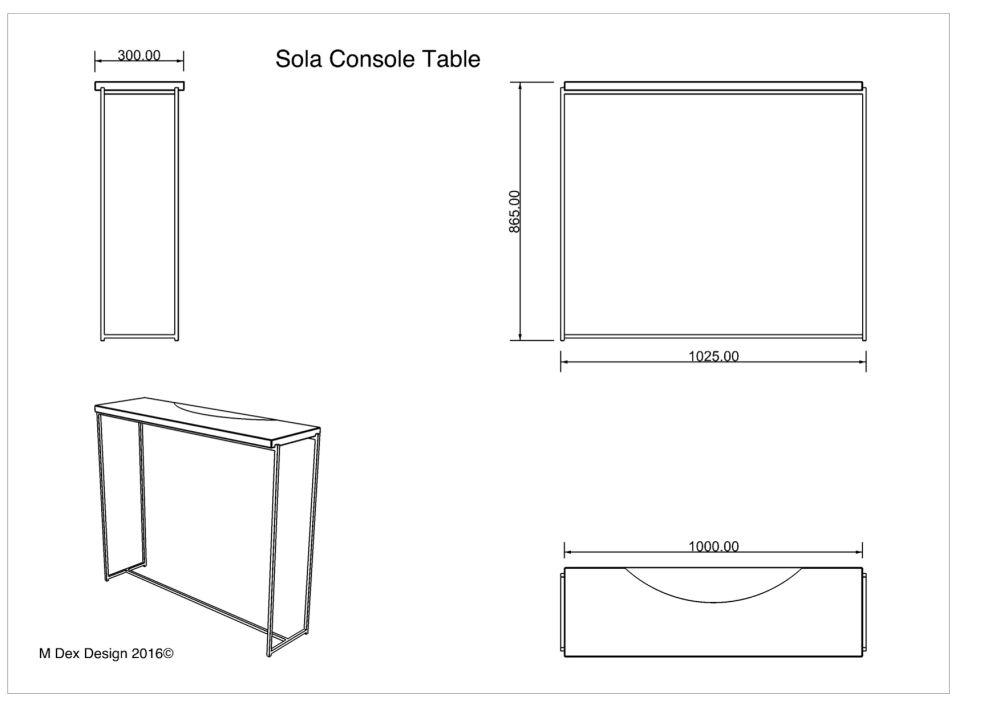 Sola Console Table by M Dex Design