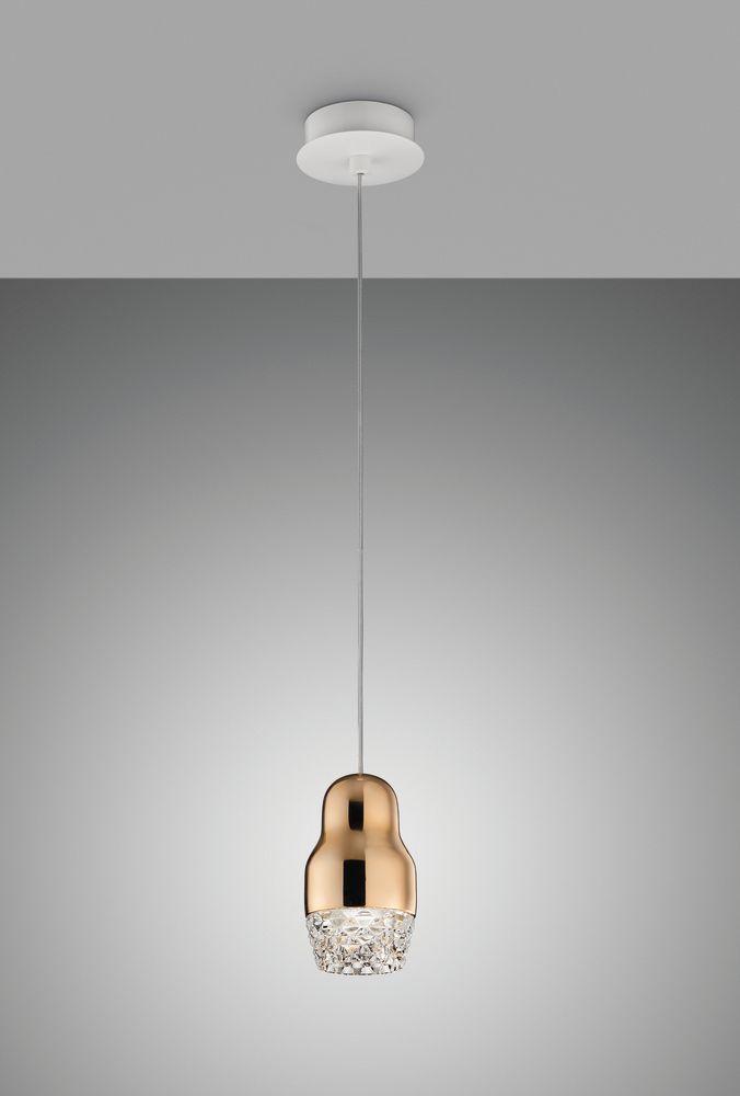 Sp fedor 1 pendant light rose gold glass by axo light aloadofball Gallery