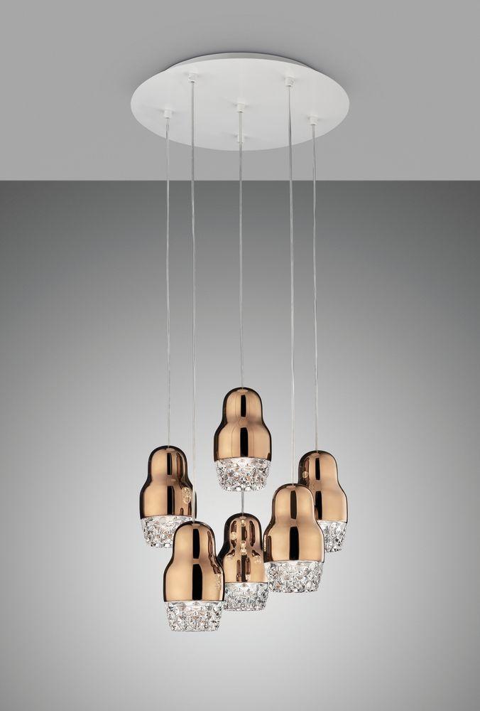Sp fedor 6 pendant light rose gold glass by axo light aloadofball Gallery