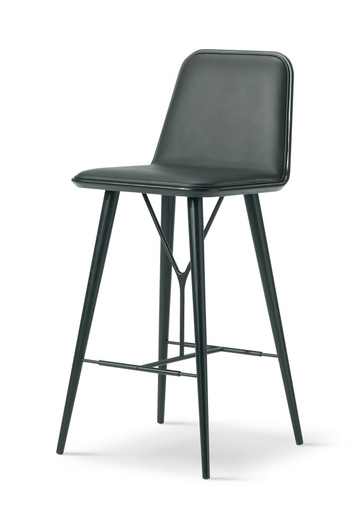 Spine Wood base Barstool by Fredericia