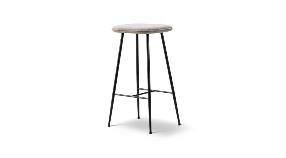 Spine Metal Base Stool - fully upholstered by Fredericia
