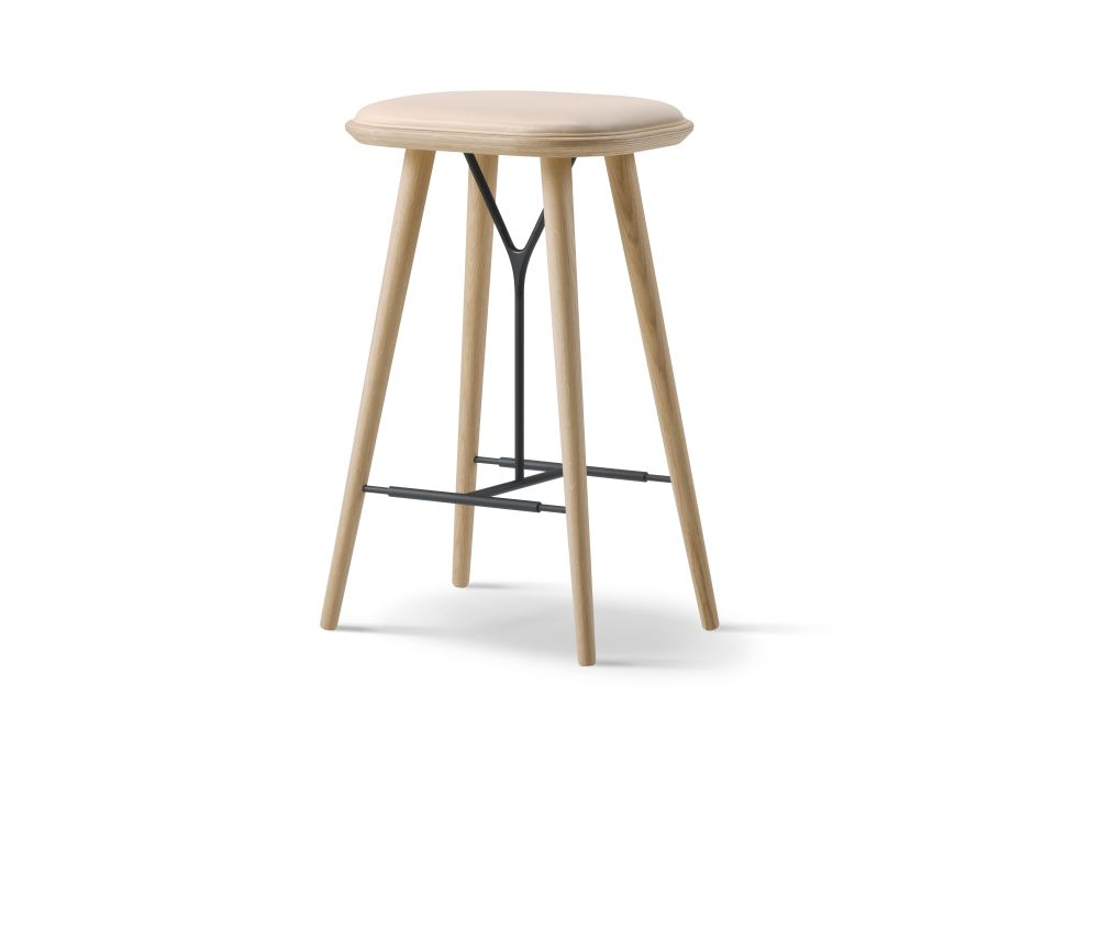 Spine Wood base Stool by Fredericia