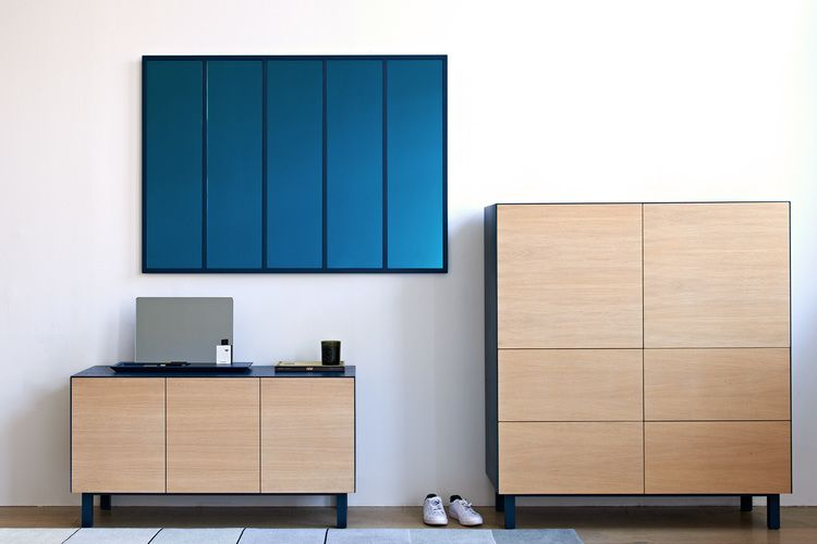 Square Cabinet 2 Doors & 4 Drawers by Another Brand