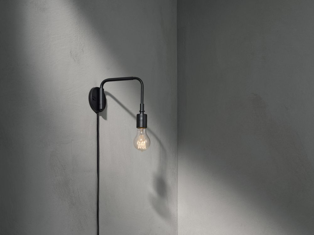 Staple wall light brushed steel by sren rose studio for menu staple wall light from menu aloadofball Gallery