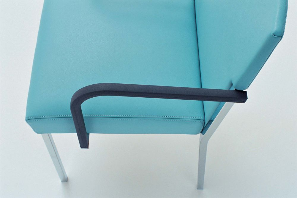 Steel Chair with Polyurethane Arms by Moroso