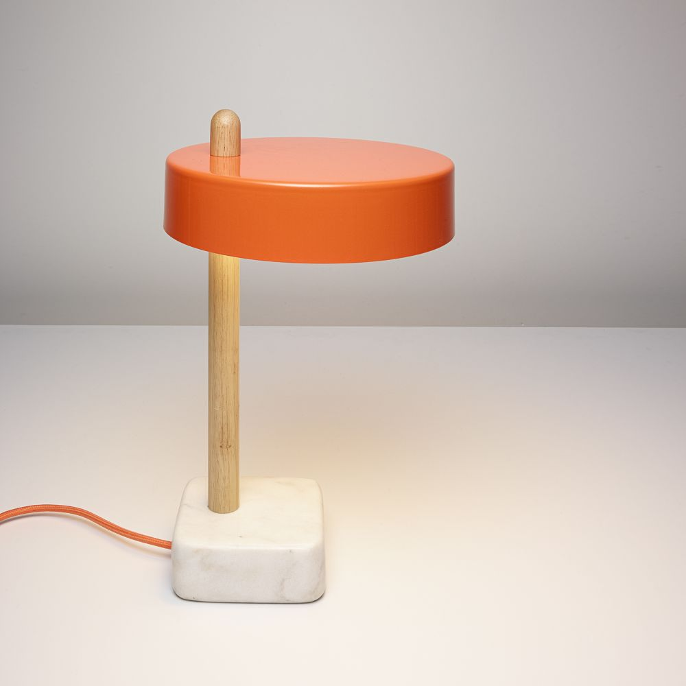 steel lamp base limelights brushed lamps p outlet white charging in with table wht shade stick