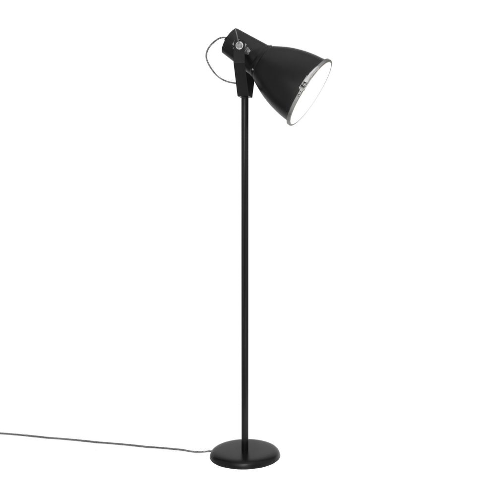 Stirrup Floor Lamp with Etched Glass by Original BTC