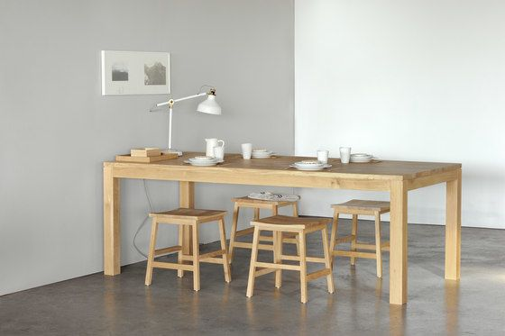 straight dining table 120 x 70 x 78 cm by ethnicraft