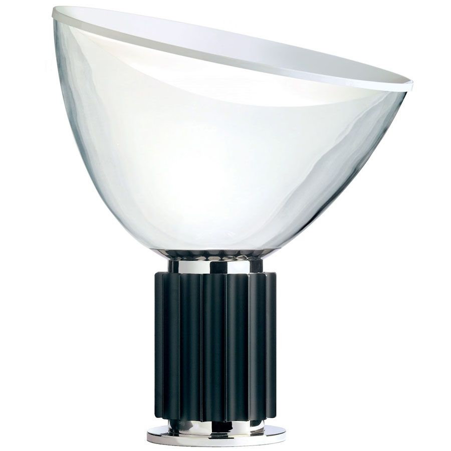 Taccia small table lamp black by achille castiglioni for flos geotapseo Image collections