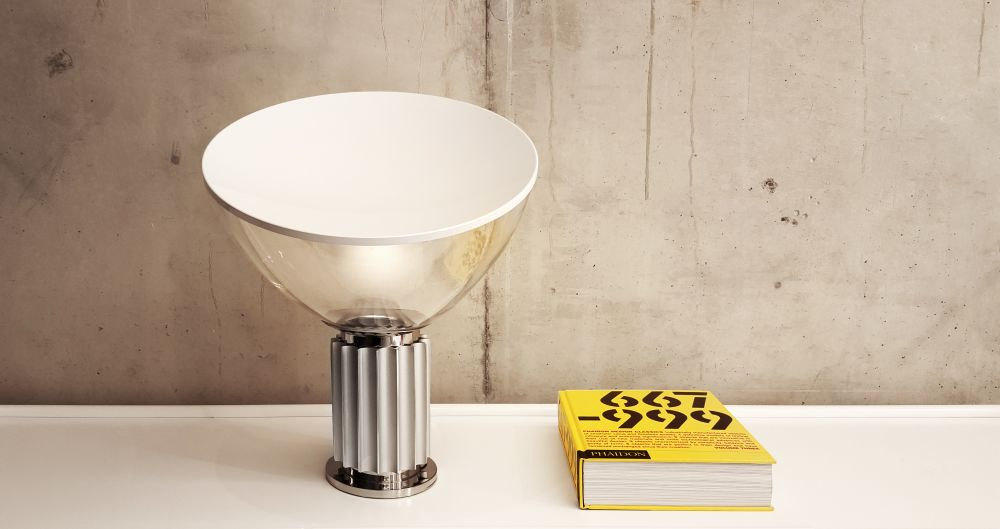 Taccia small table lamp black by achille castiglioni for flos view more images aloadofball Images