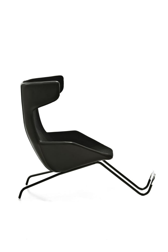 Take a Line For a Walk Armchair with Footrest by Moroso