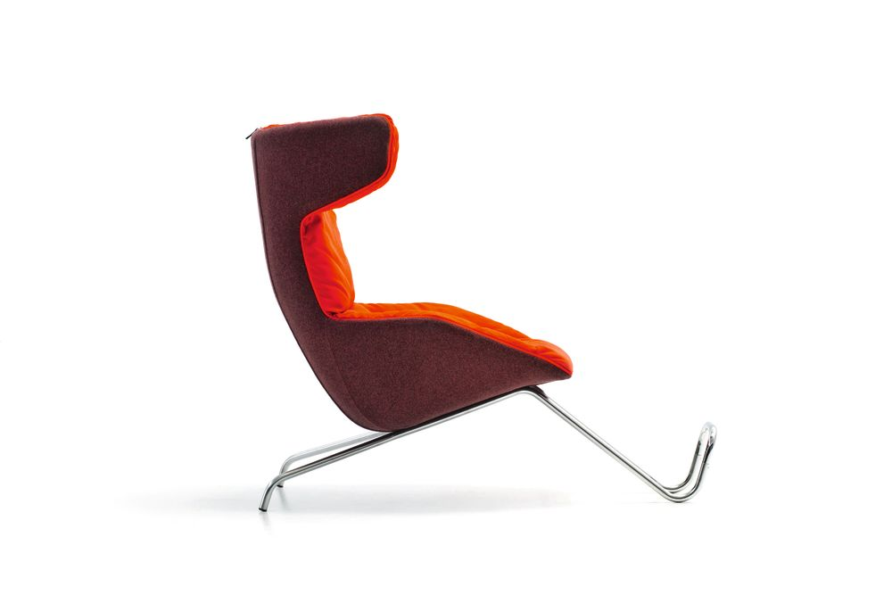 Take a Line For a Walk Armchair with Footrest for Quilt by Moroso