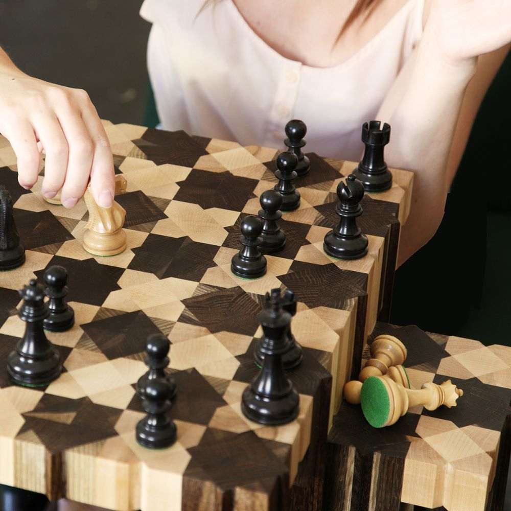The Field Chess Table by FUNDAMENTAL.BERLIN