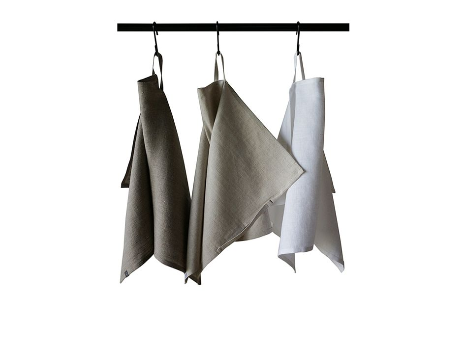 Natural linen towel set