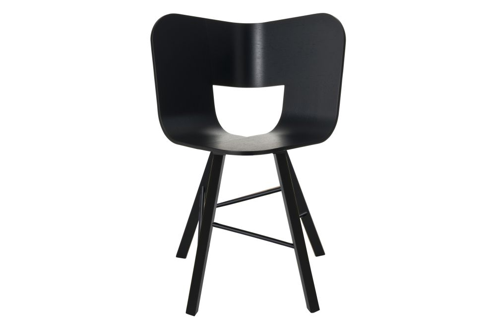 sc 1 st  Clippings & Tria Four Legged Dining Chair Black by Colé Italian Design Label