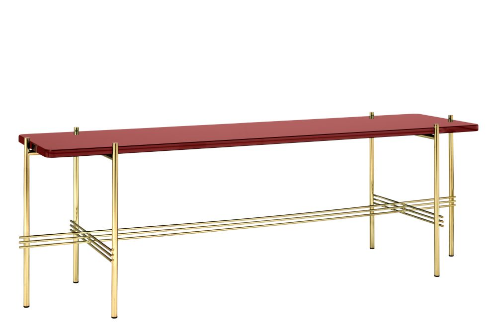 TS Rectangular Console Table with One Glass Plate by Gubi