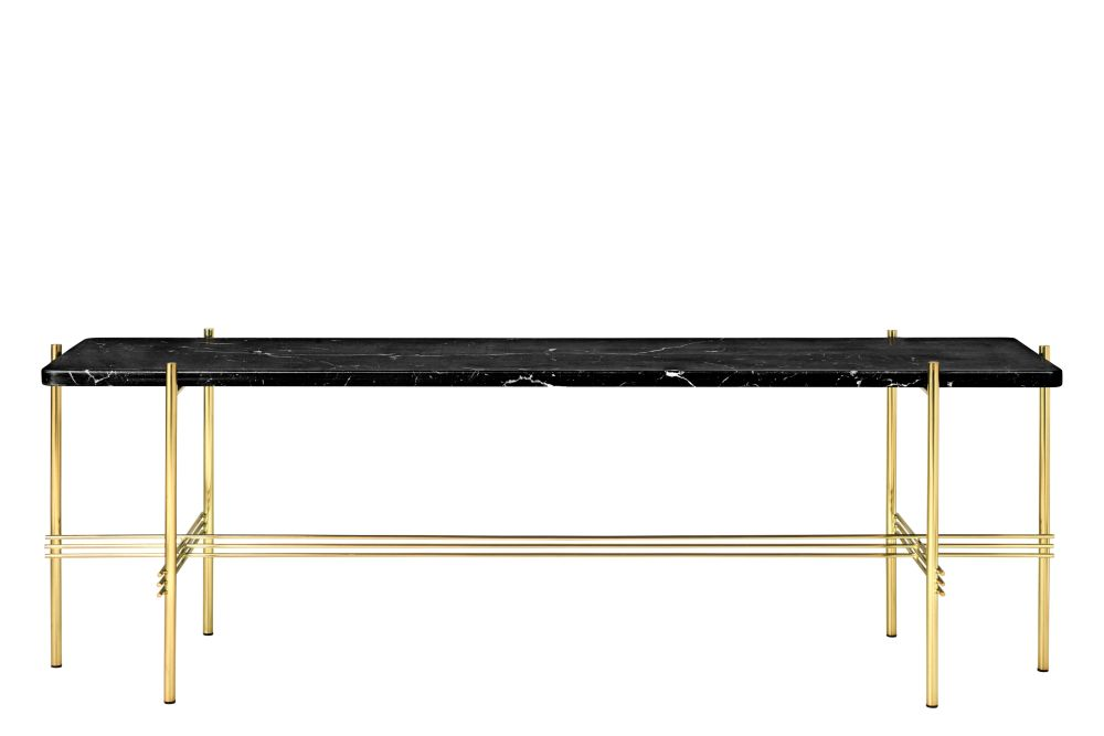 TS Rectangular Console Table with One Marble Plate by Gubi
