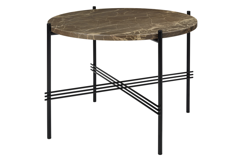 Ts Round Coffee Table With Marble Top In Black Frame By Gubi