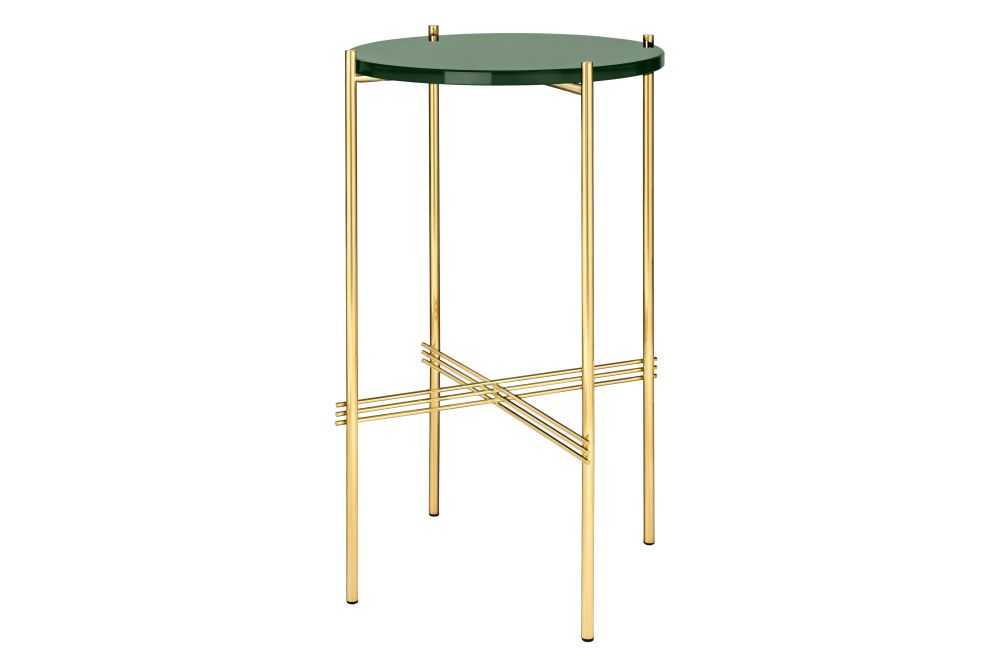 TS Round Console Table with Glass Top by Gubi