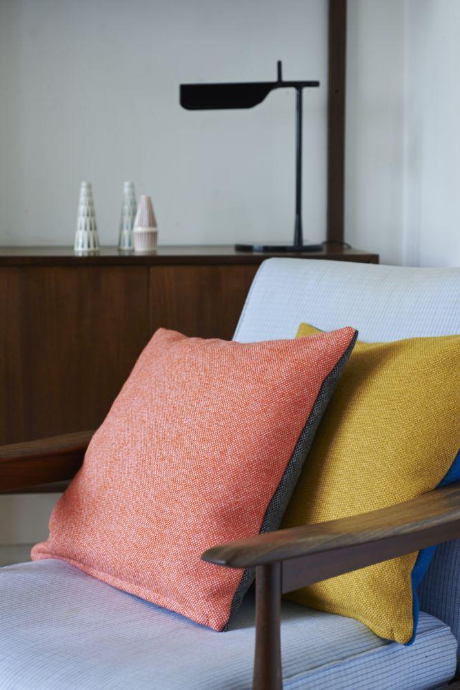 Twin Tone Cushion - Charcoal & Rosie Pink