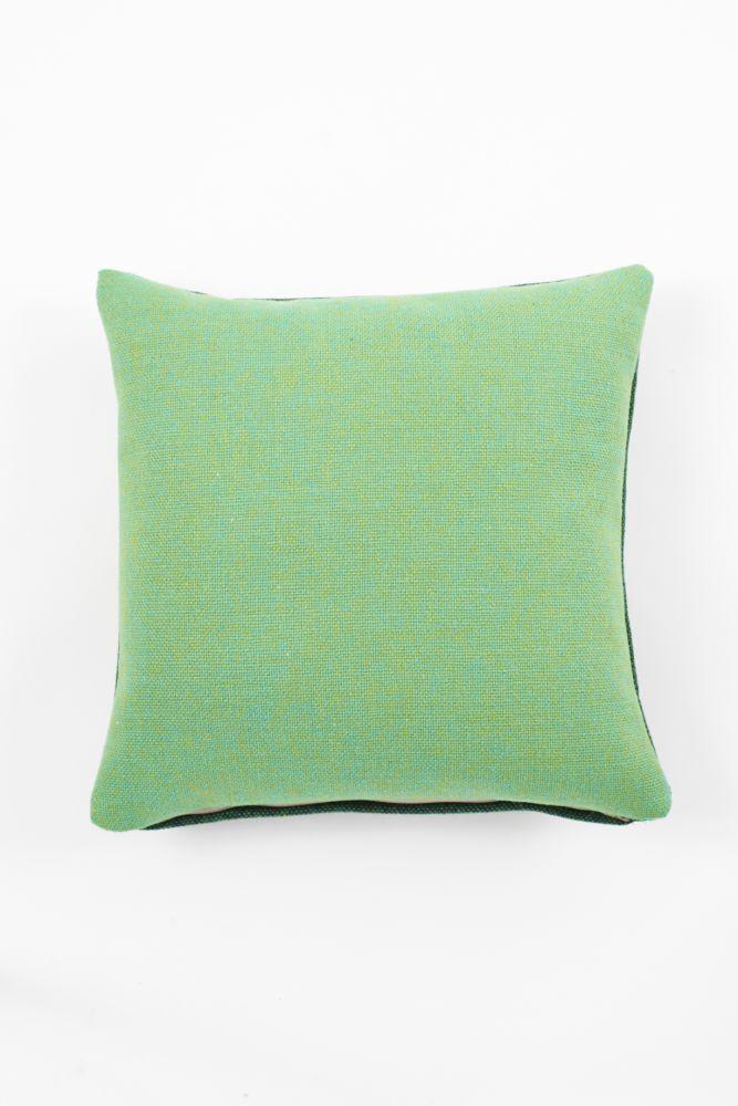 Twin Tone Cushion - Acid Pea Green