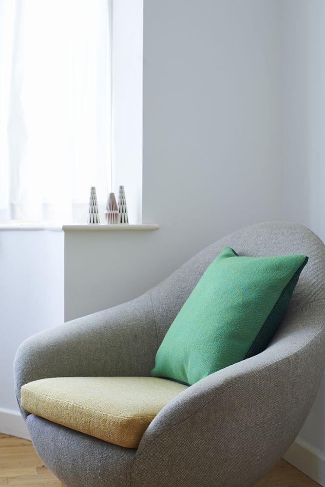 Twin Tone Cushion - Forest & Acid Pea Green
