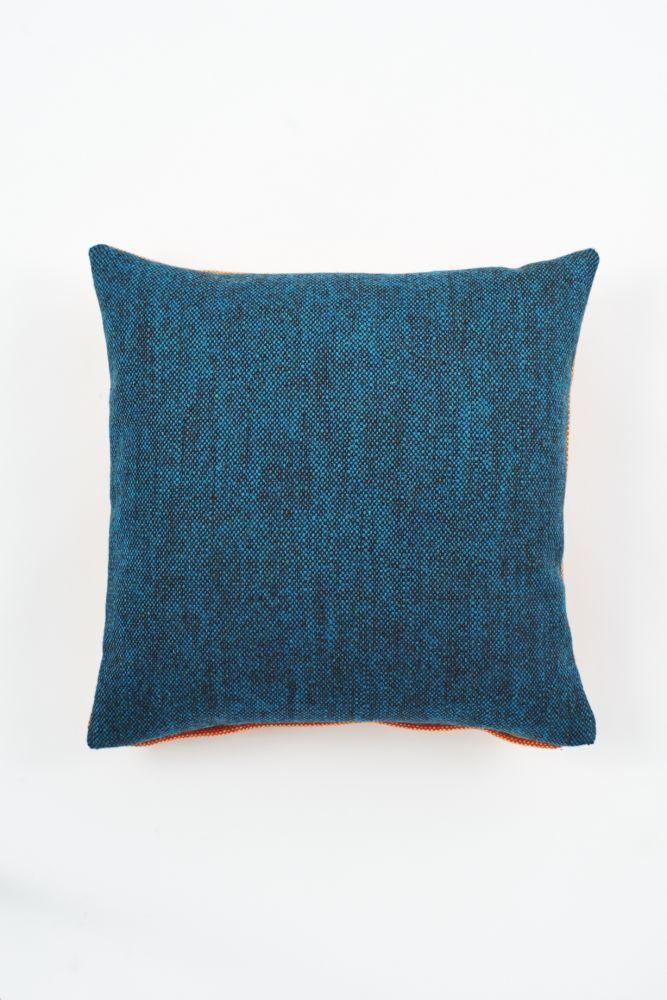 Twin Tone Cushion - Mallard Blue