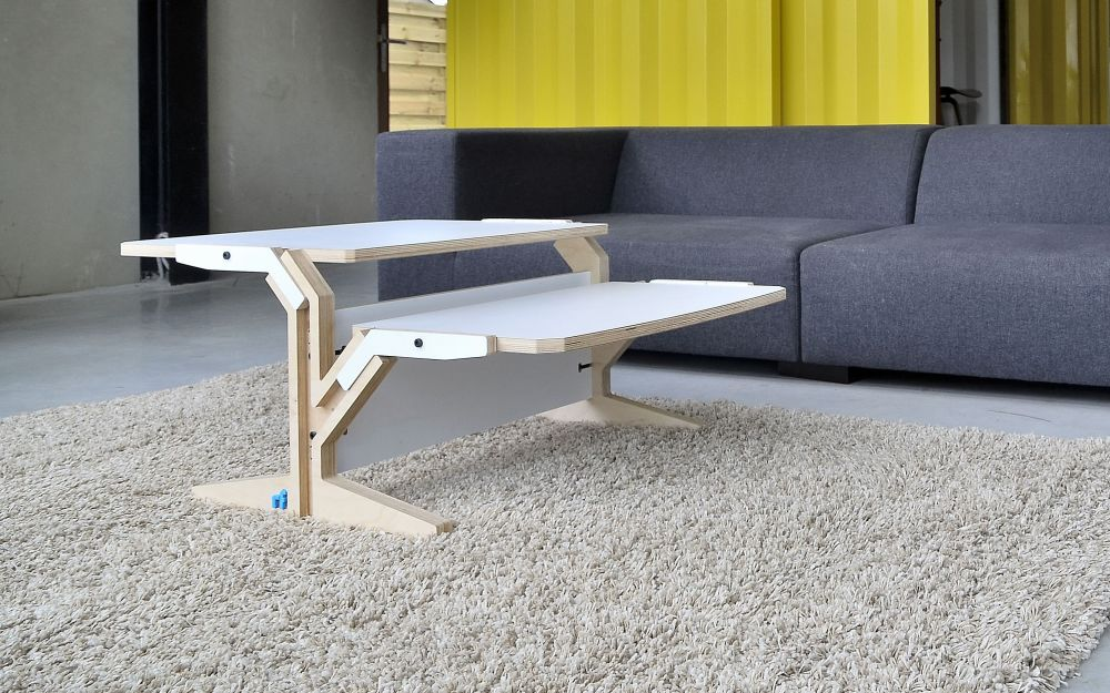 Vegetale Coffee Table - Double Horizontal Tablet - Snow White