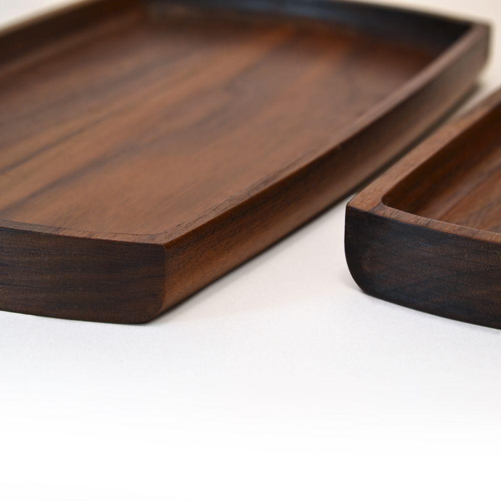 Walnut Trays - Set of 2 by Tanti Design