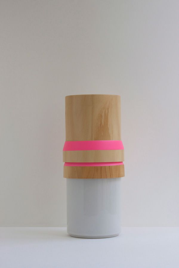 Wood & Ceramic Stacking Vase by ¿adónde?
