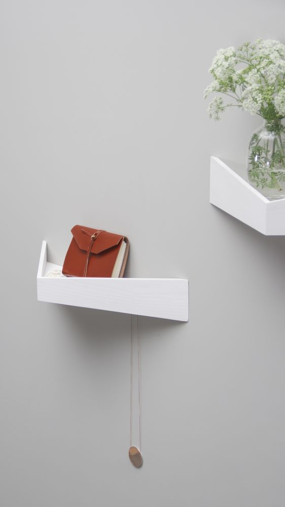 Pelican Shelf with hidden hooks by WOODENDOT