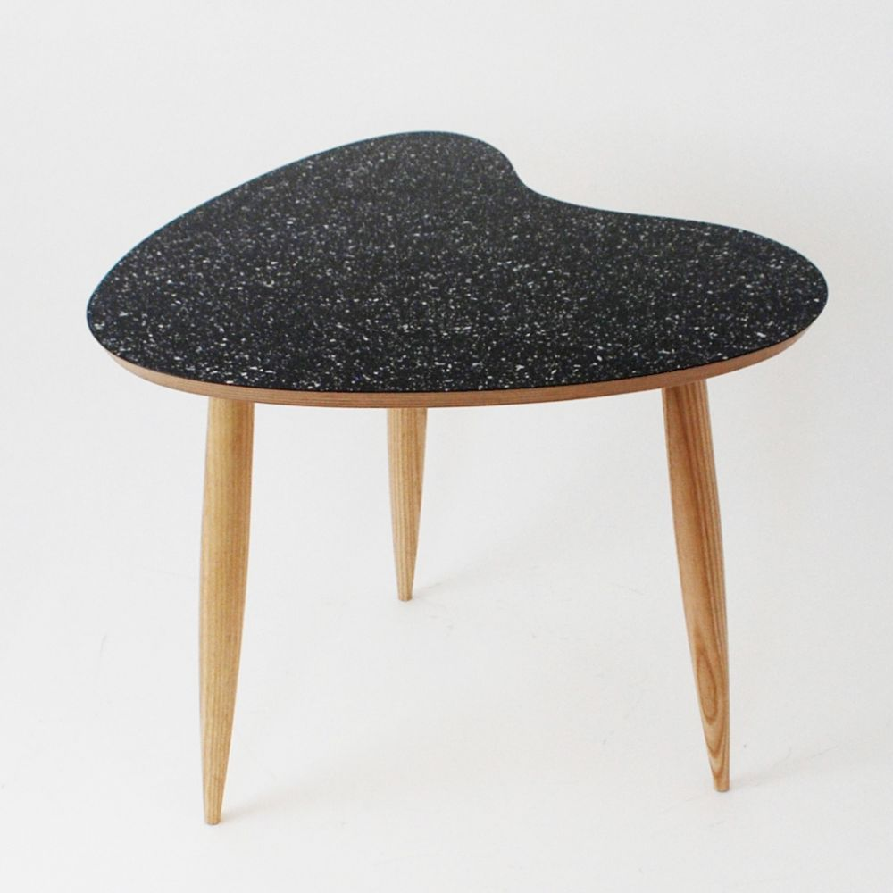 Petal table Sparkled Black