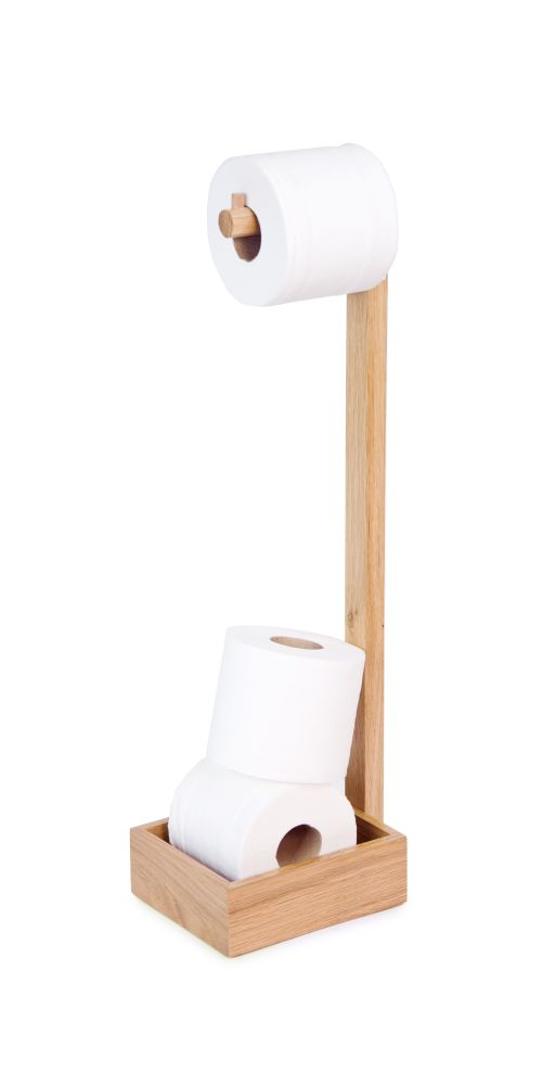Freestanding toilet roll holder by Wireworks