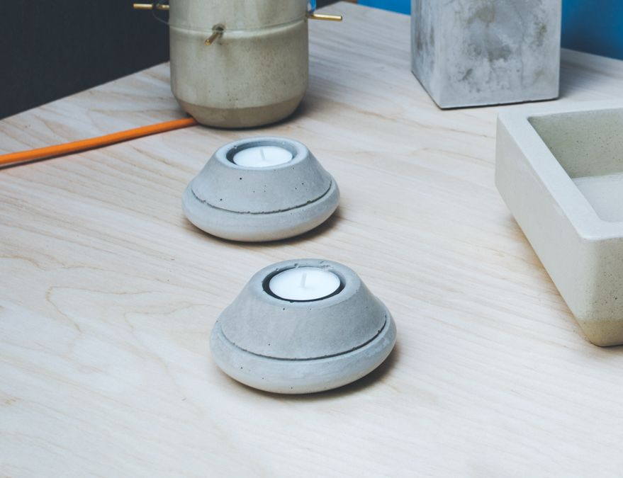 Concrete Taper tealights by Room-9