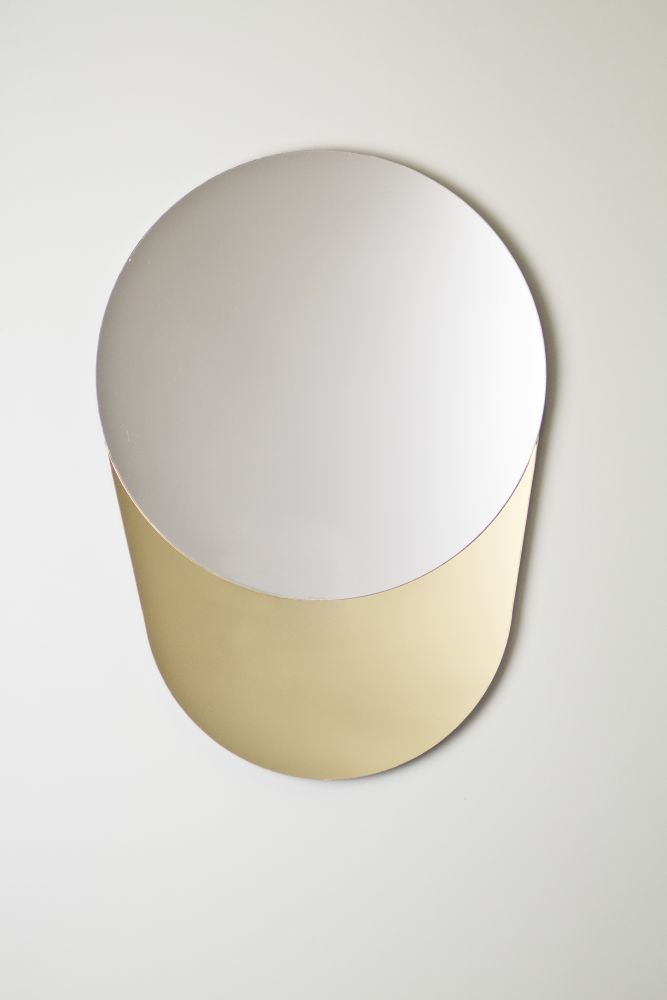 Gold and Silver Cylinder mirror