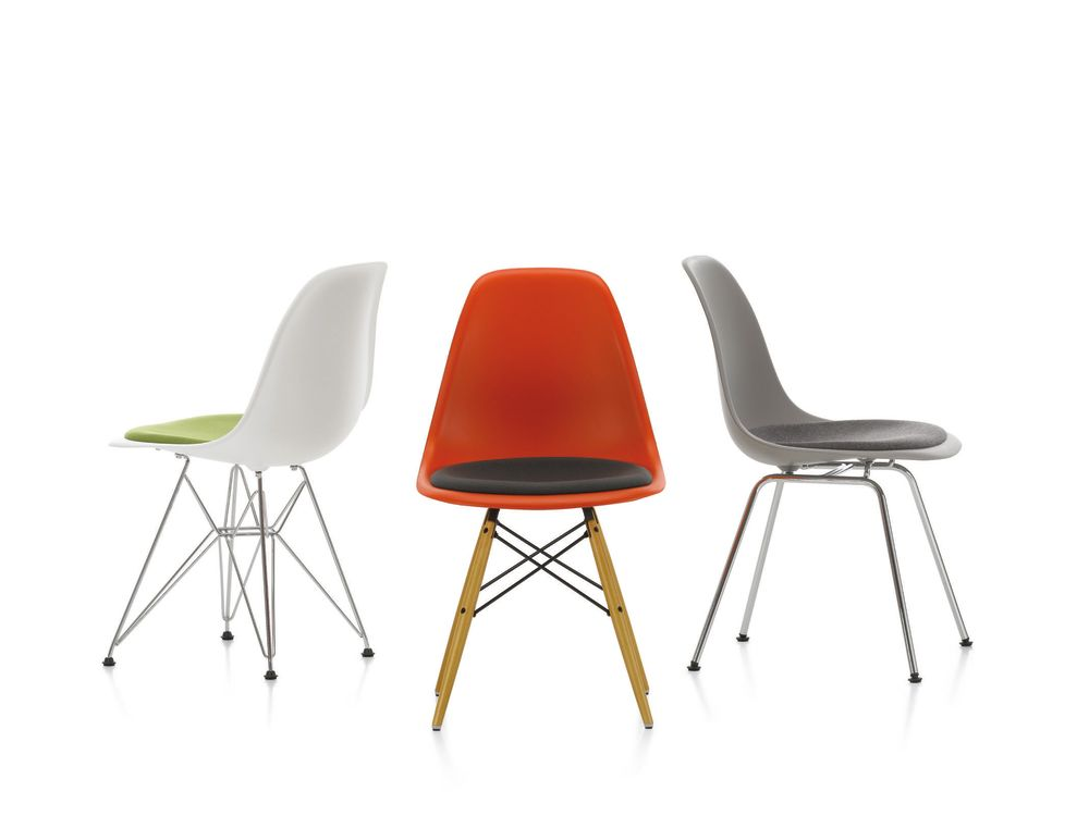 DSR Side Chair with Seat Upholstery by Vitra