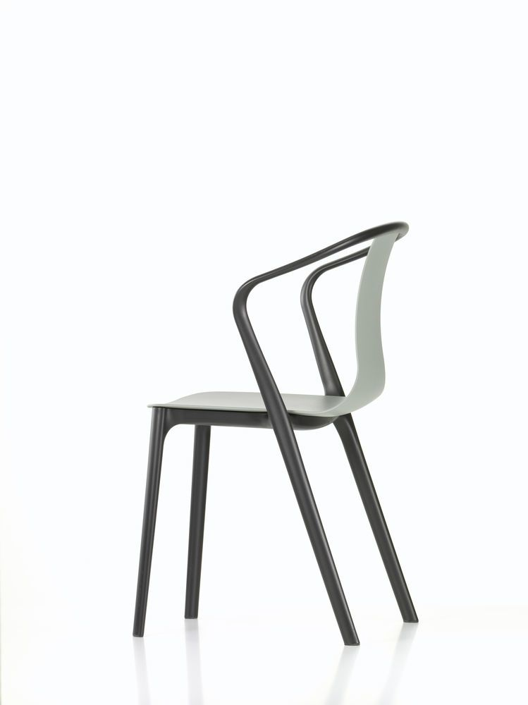 Belleville Armchair with Plastic Shell by Vitra