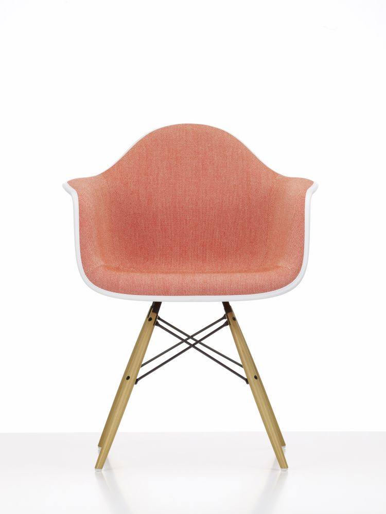 DAW Side Chair with Front Upholstery by Vitra