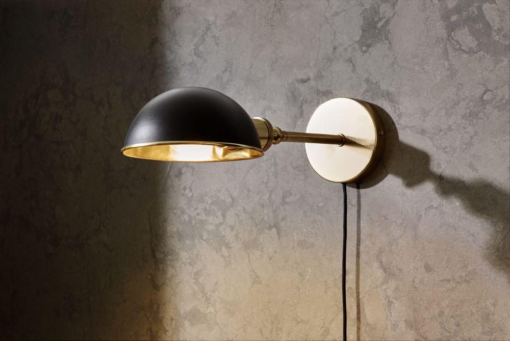 Walker CeilingWall Lamp Short Black by Sren Rose Studio for Menu