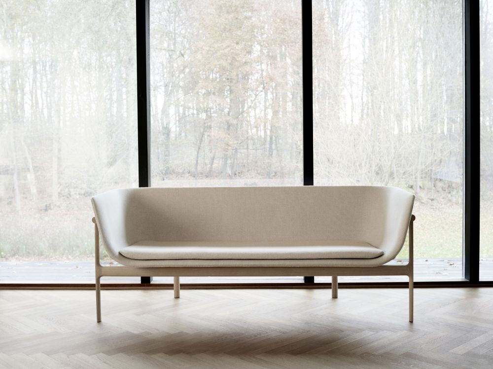 Schlafsofa design lounge  Tailor Lounge Sofa Natural Oak/Light Grey by Roger Arquer for Menu